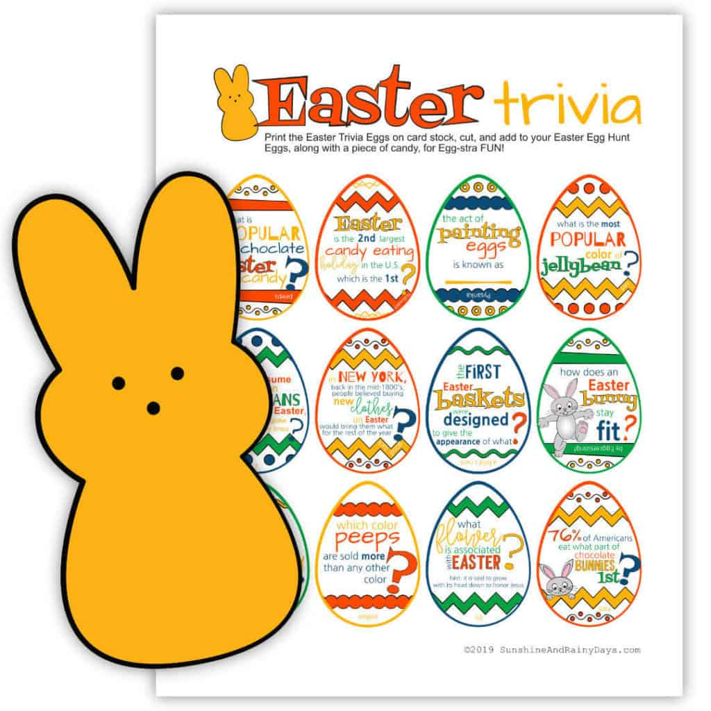 Easter Trivia Printable
