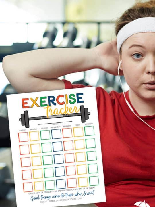 Printable Exercise Tracker