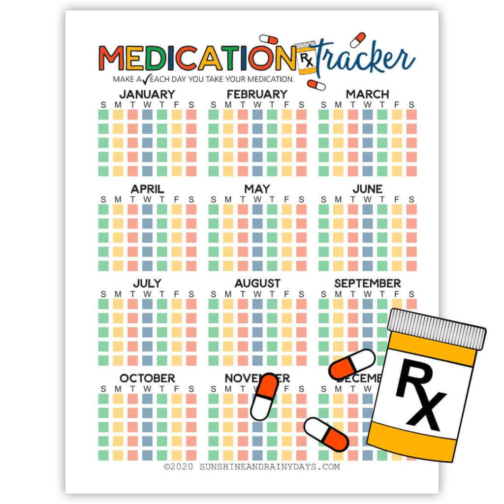 Printable Medication Tracker