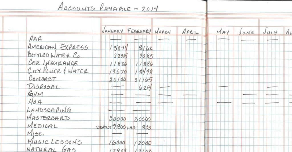 12 Column Ledger Book For Simple Budgeting
