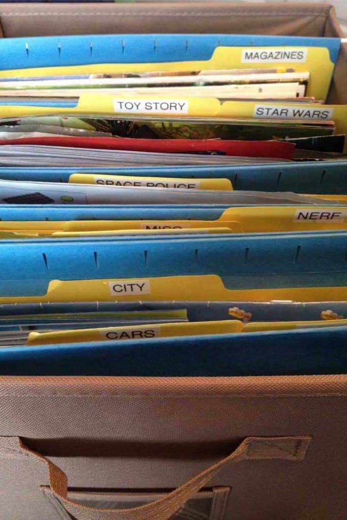 Tween boy manual organization, in file folders.