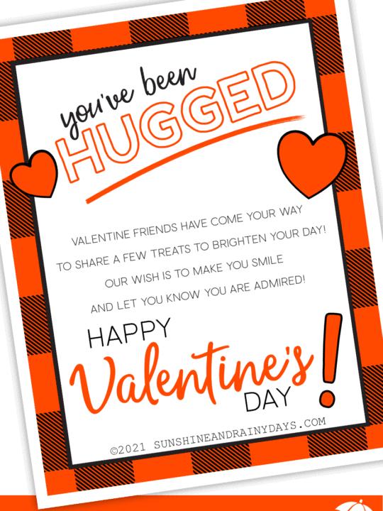 You've Been Hugged Printable