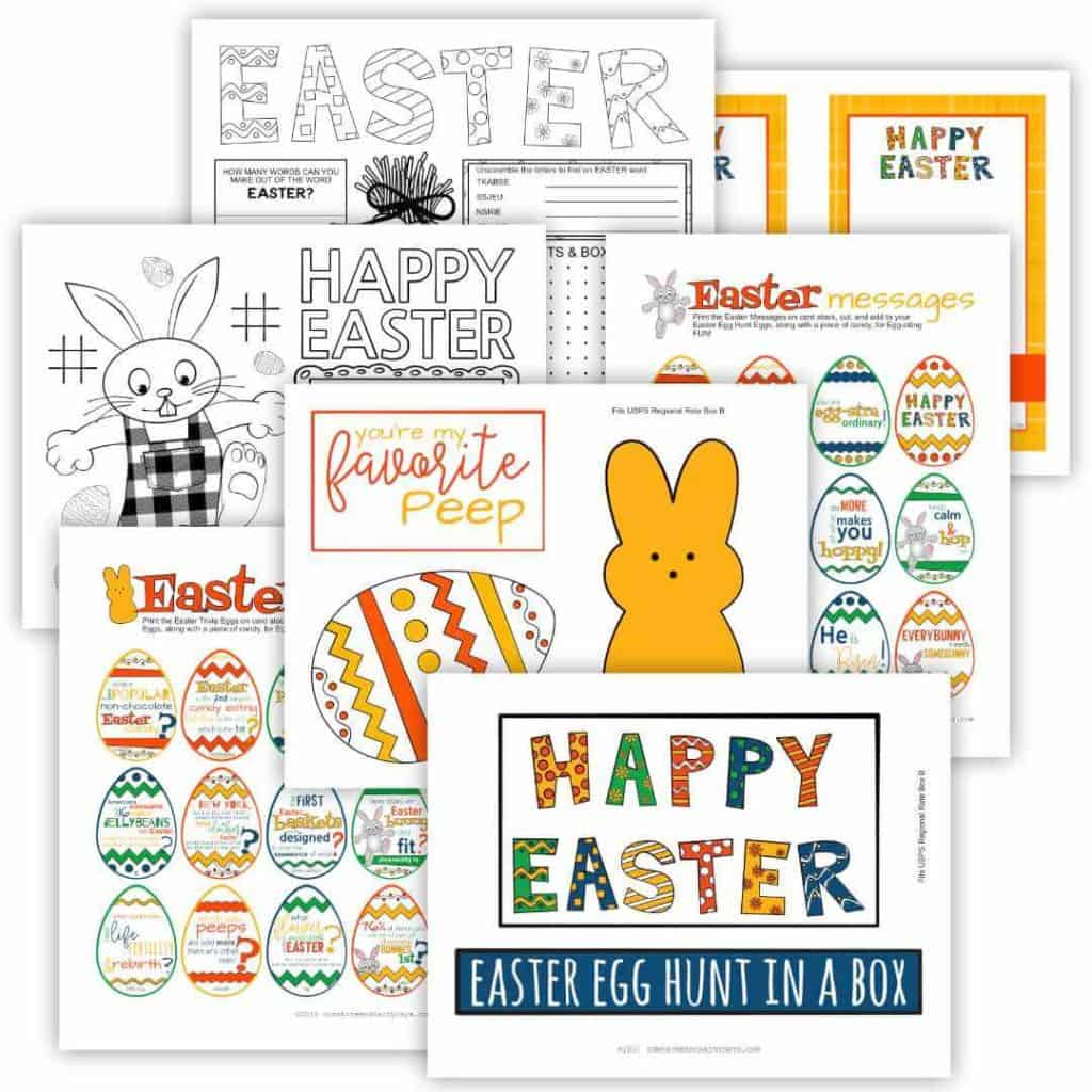 Easter Care Package Printables.