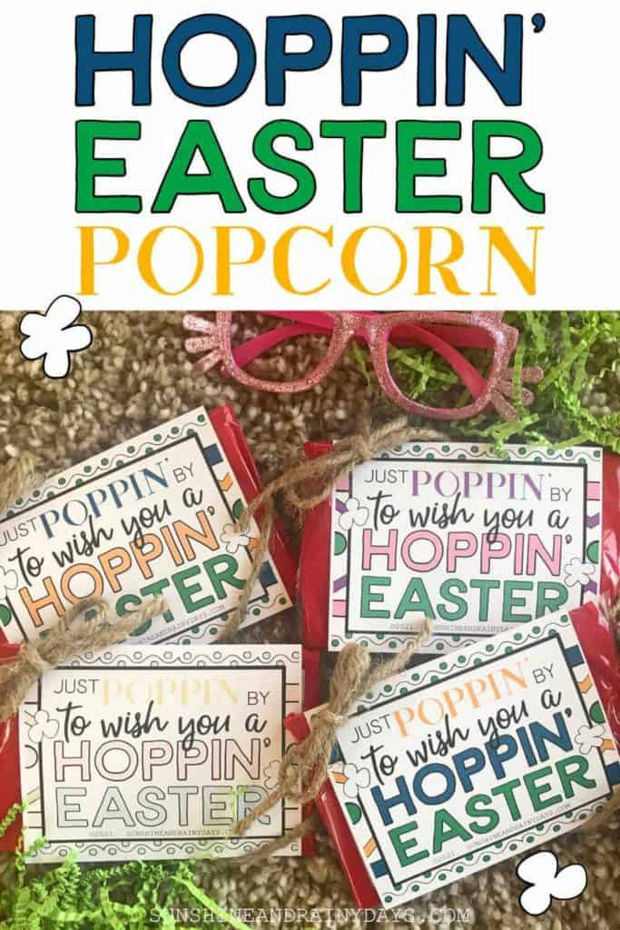 Happy Easter Microwave Popcorn Tags