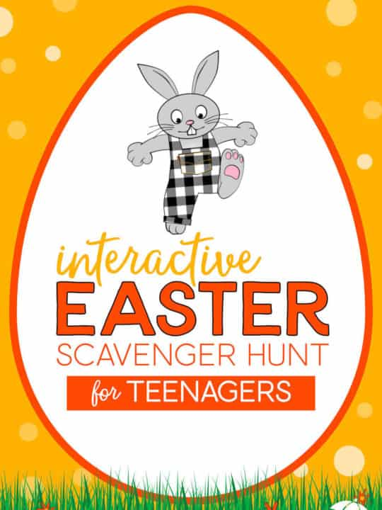 Interactive Easter scavenger hunt for teenagers!
