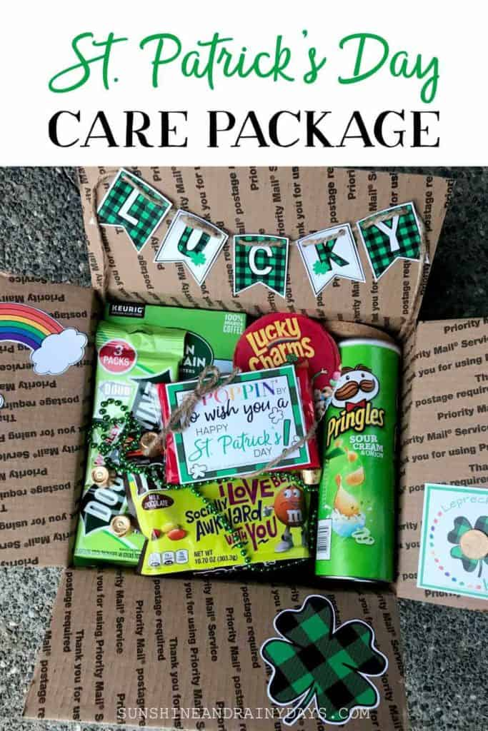St. Patrick's Day Care Package with fun and festive printables.