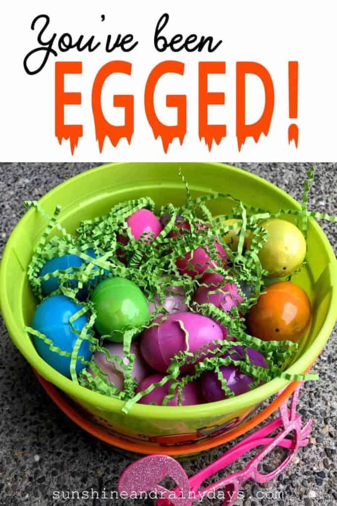 Easter bucket full of Easter eggs!