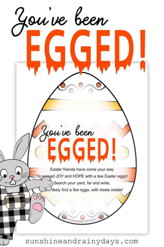 You've Been Egged Printable!