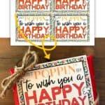 Happy Birthday microwave popcorn gift idea.