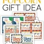 Microwave popcorn gift idea.