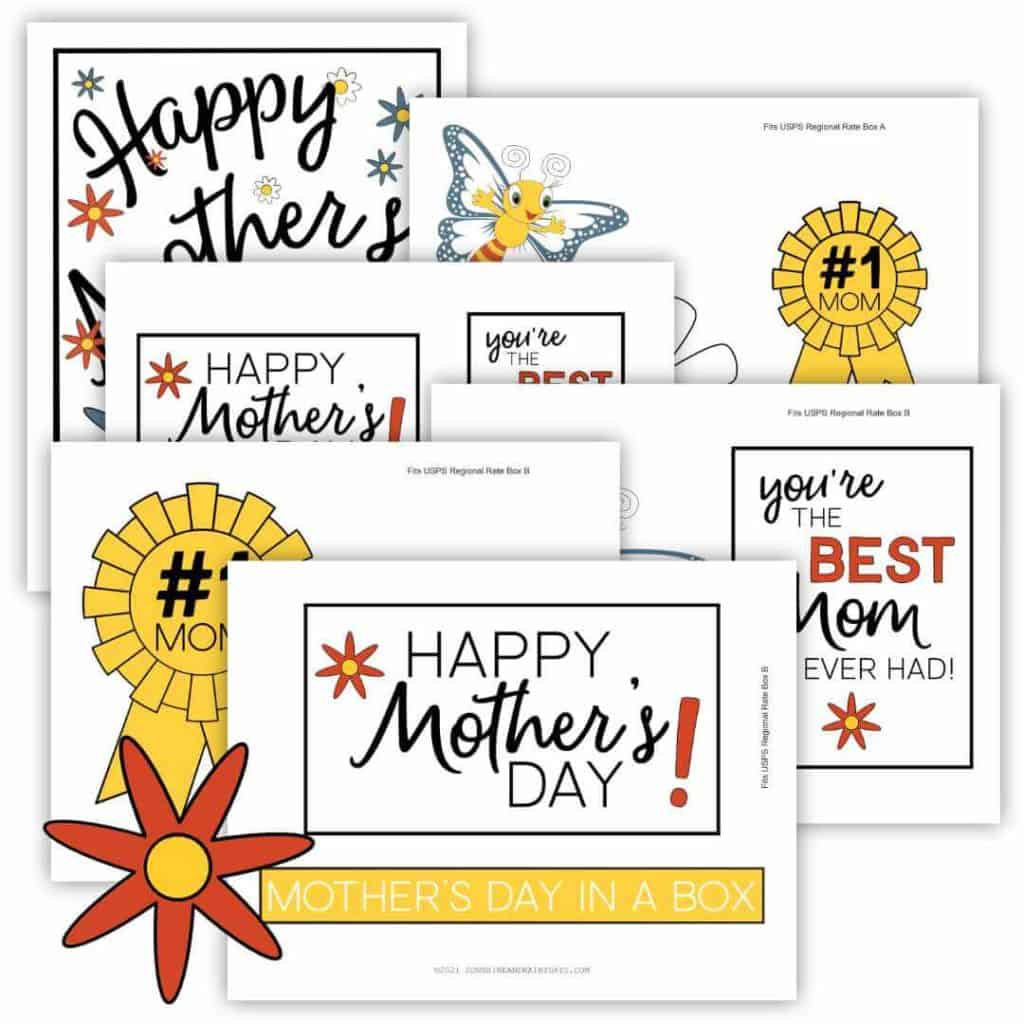Mother's Day Care Package Printables!