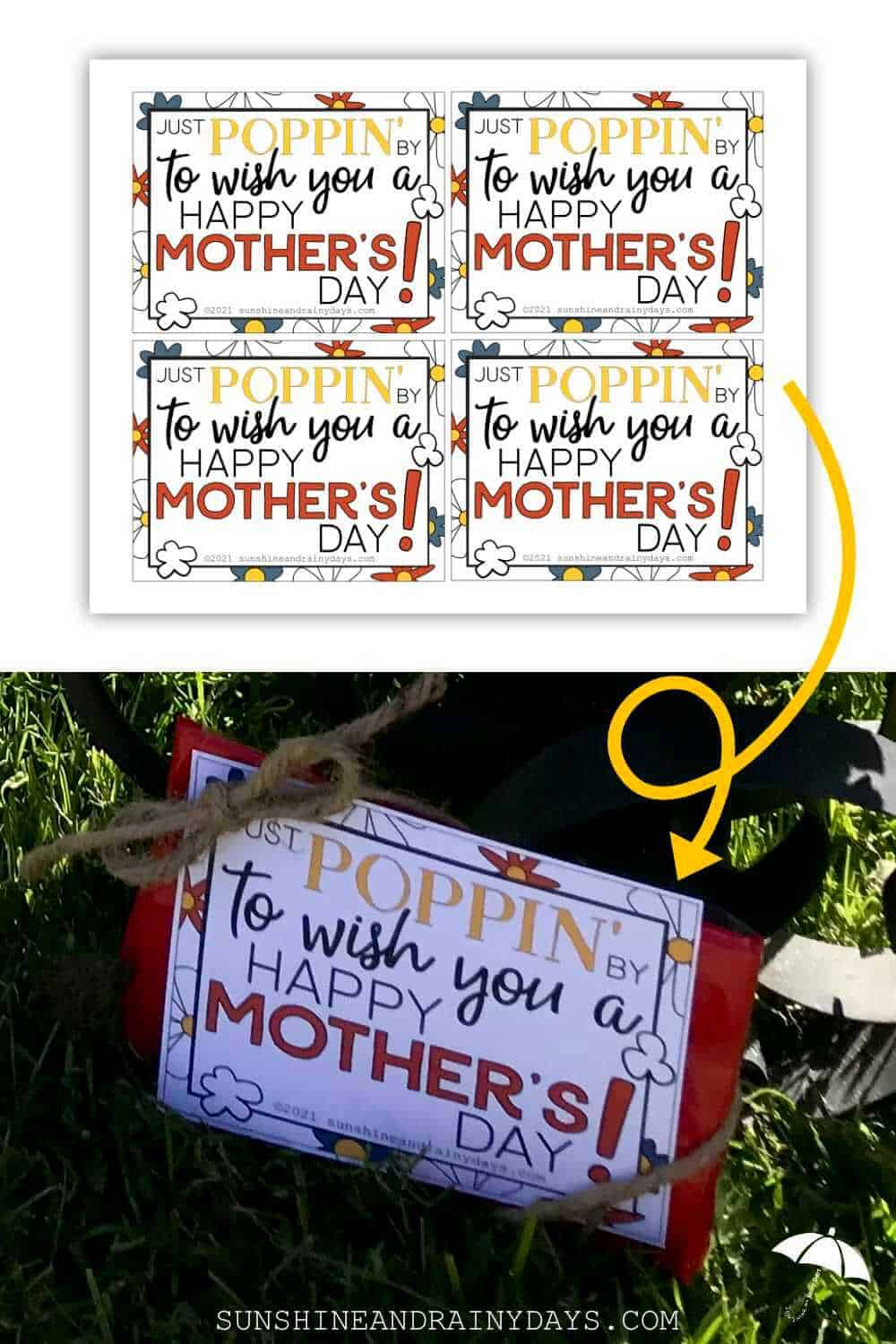 Mother's Day Microwave Popcorn Tag