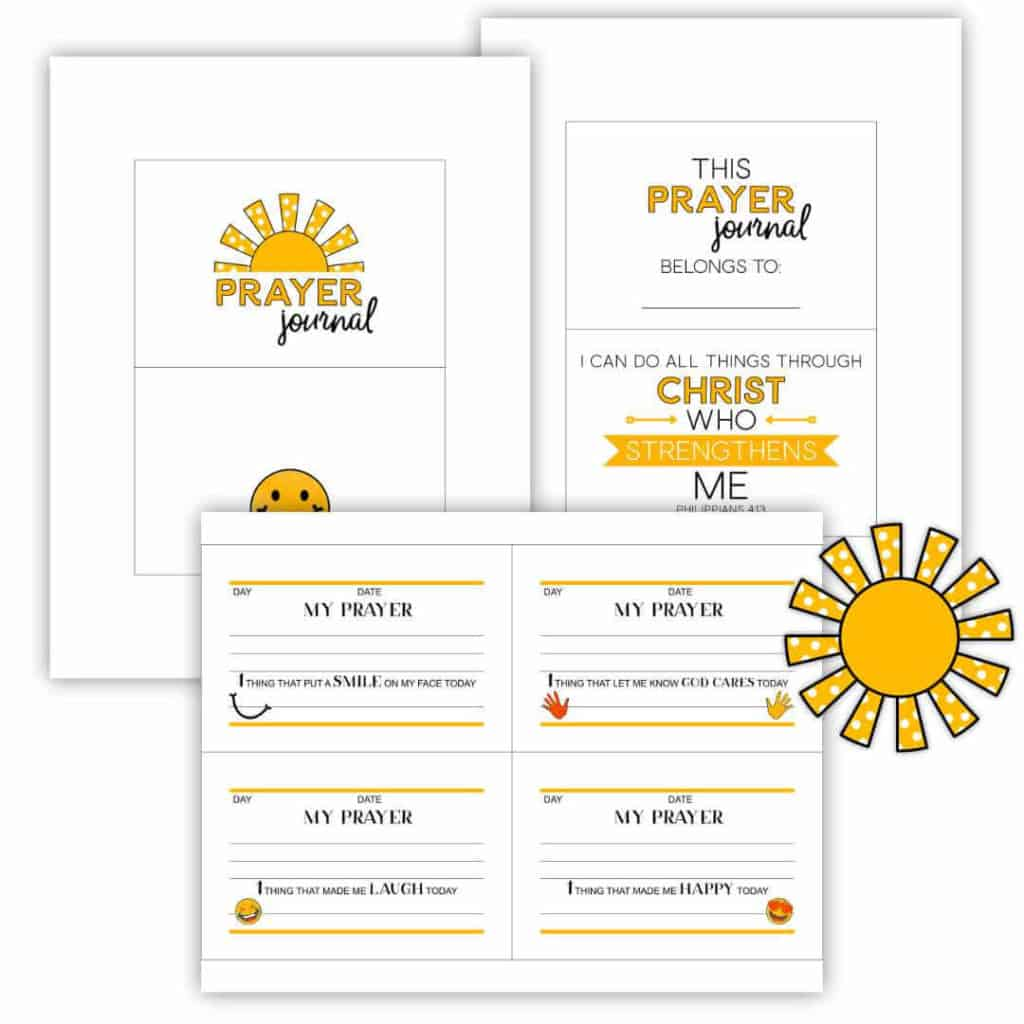Prayer Journal pages to use with the discbound system.