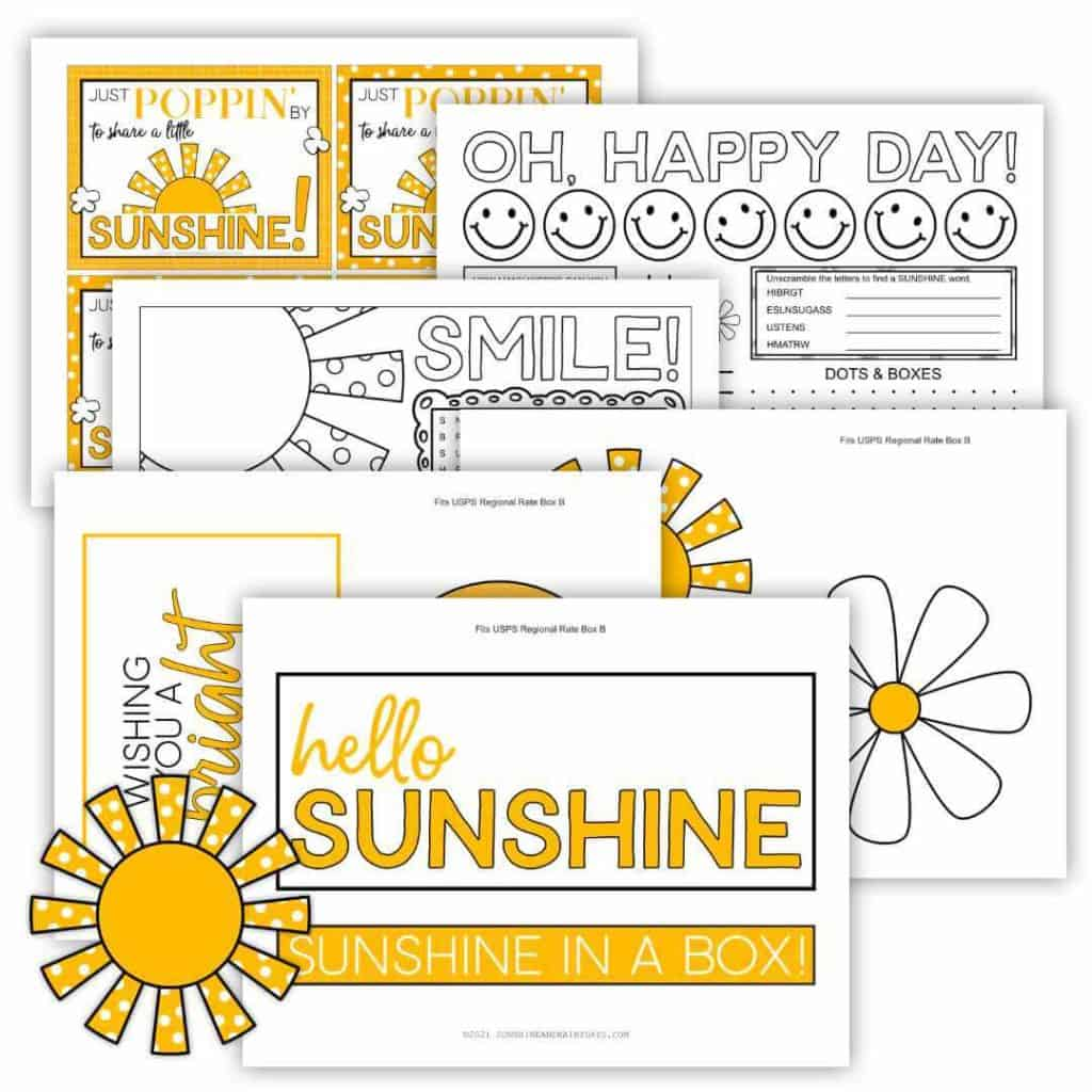 Sunshine Box Printables