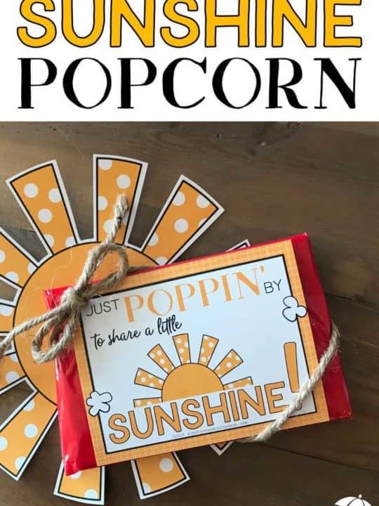 Sunshine Popcorn Tag for microwave popcorn!