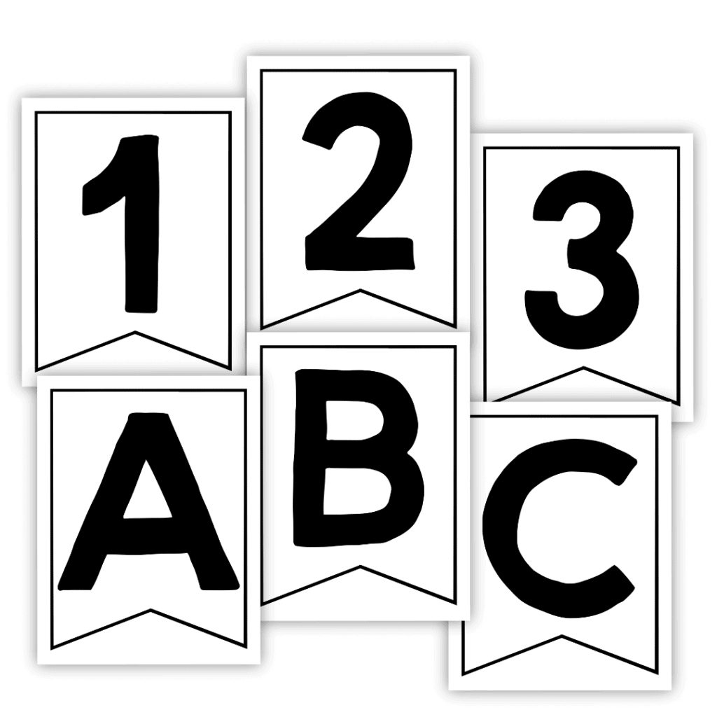 Black Banner Letters & Numbers you can print at home!
