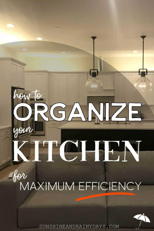 Organize Your Kitchen for maximum efficiency!
