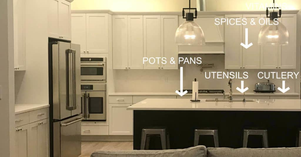 Cooking zone in an organized kitchen.