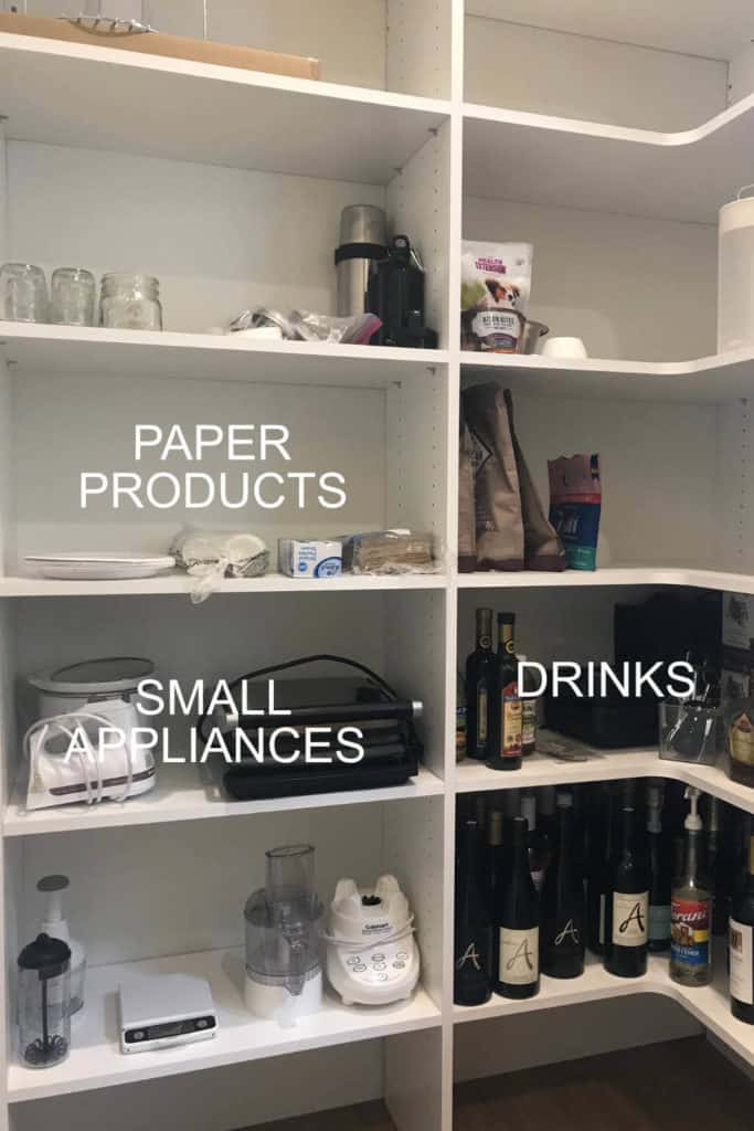 Organized Pantry - Paper Products