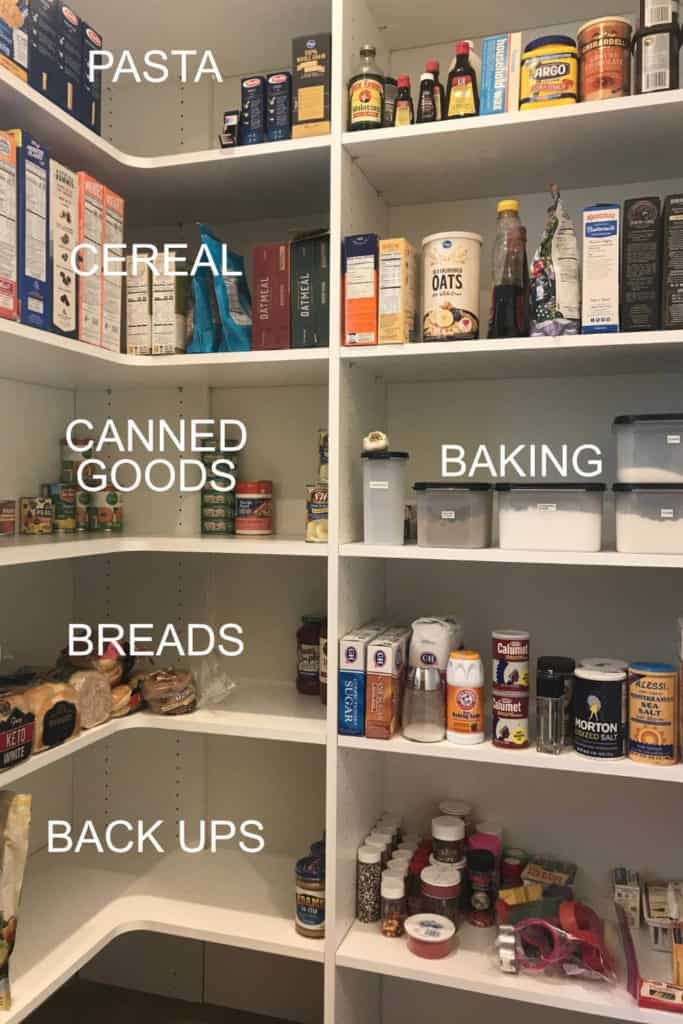 Organized Pantry Food