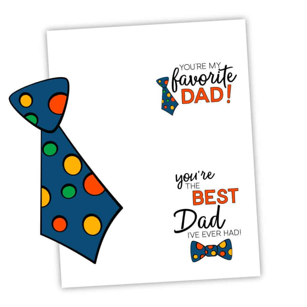 Father's Day Printable Notecards