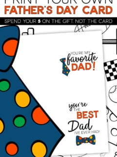 Father's Day notecards you can print at home!