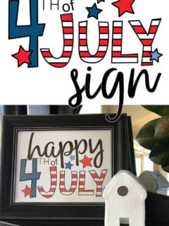 Happy 4th of July sign you can print at home!