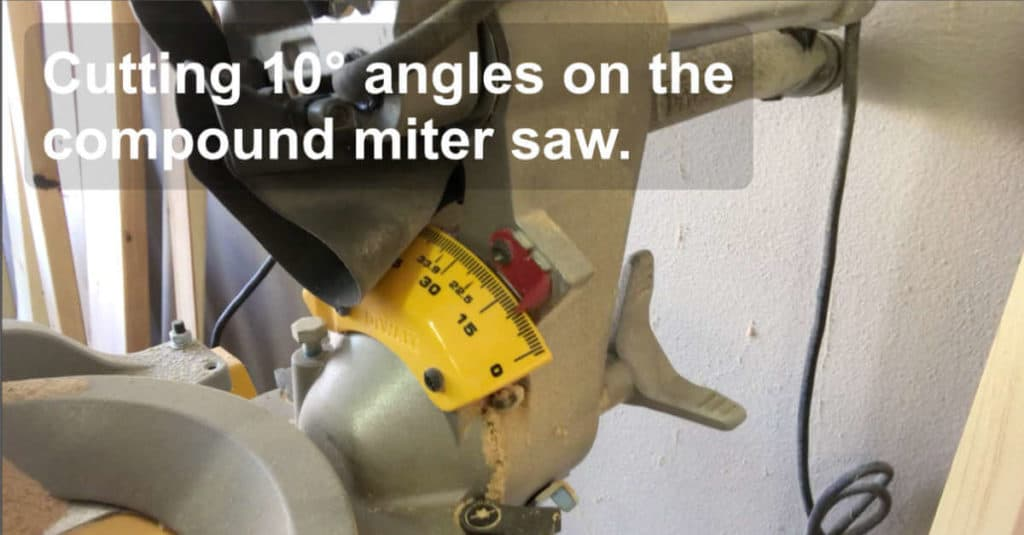 10° cuts on a compound miter saw.