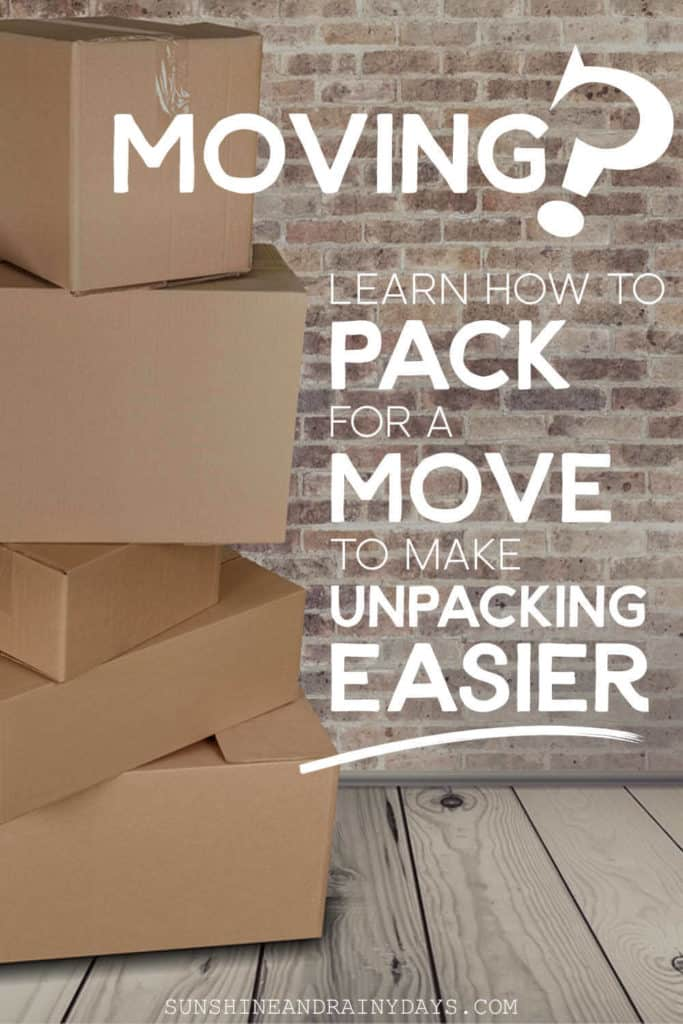 Boxes for moving with the words: How To Pack For A Move