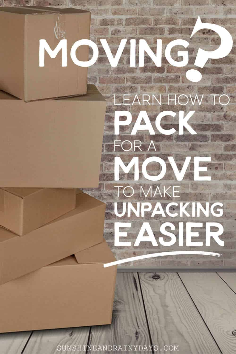 Boxes for moving.