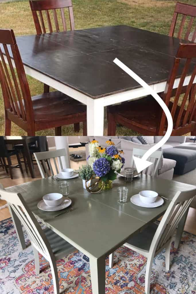 Kitchen table painted for a fresh new look!