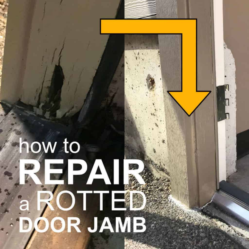 How to repair a rotted door jamb.