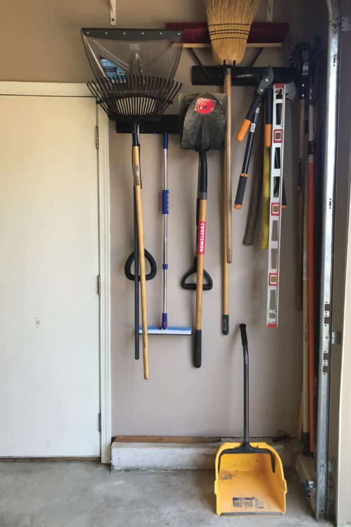 Group like items together to organize your garage.
