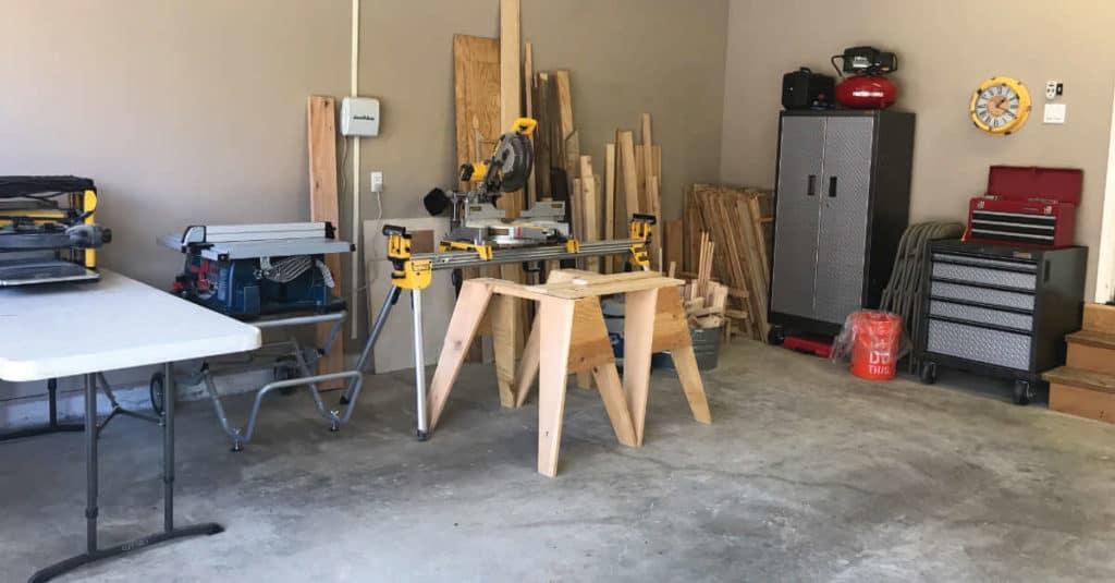 Organizing the garage in zones.