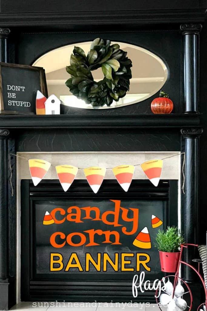Printable candy corn banner.
