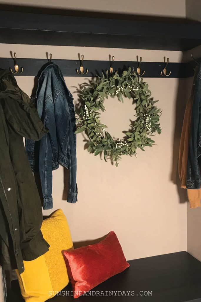 Coat closet mudroom nook.