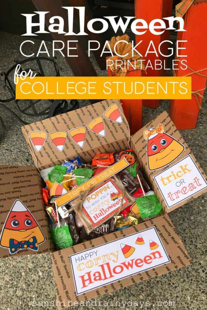 Halloween care package for college students.
