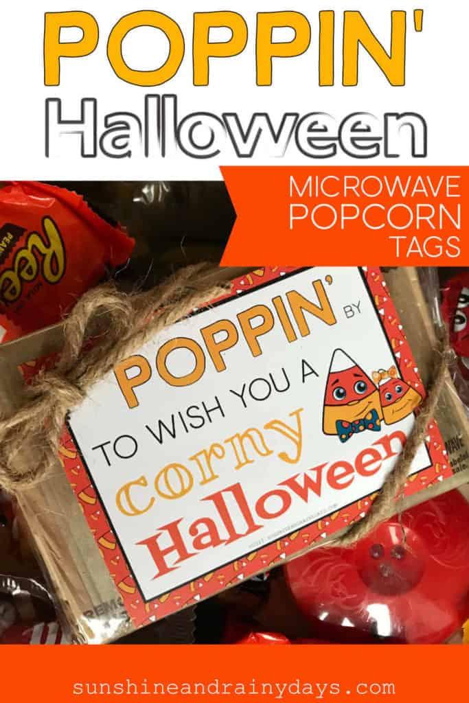 Halloween Popcorn Tag