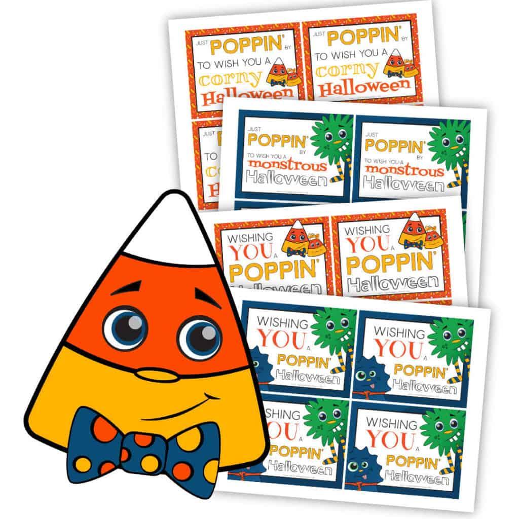 Printable Halloween Microwave Popcorn Tags