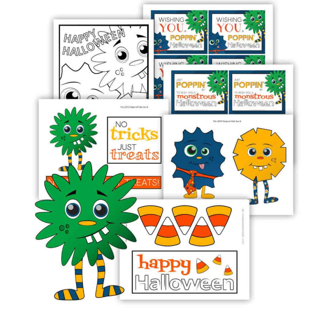 Halloween Care Package Printables