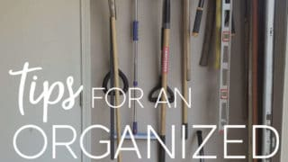 Tips for an organized garage.