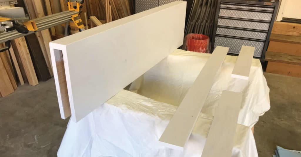 Floating shelf primed, ready to paint!